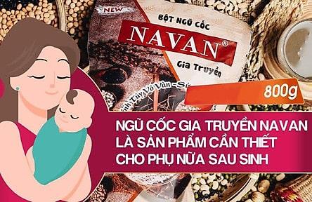cach-pha-ngu-coc-navan-loi-sua-cho-me-sau-sinh