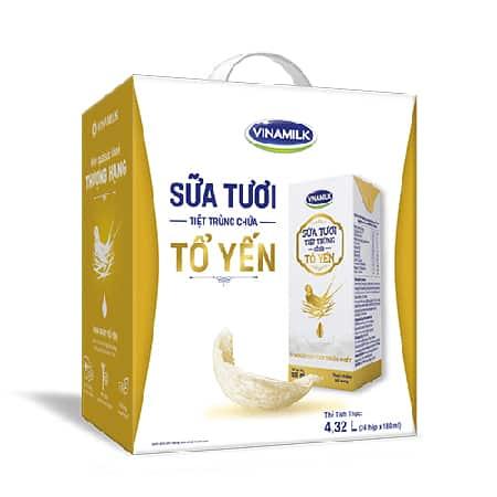 Là dòng sữa chứa tổ yến đầu tiên tại Việt Nam