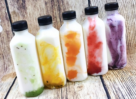 Sữa chua uống là sản phẩm được chế biến từ sữa bò tươi