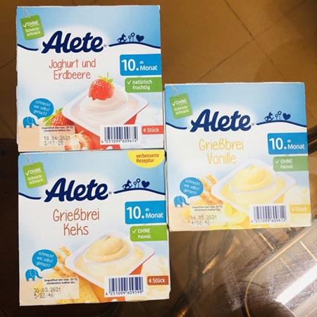Aleta là hãng thực phẩm chuyên sản xuất đồ ăn dặm cho bé hàng đầu của Đức