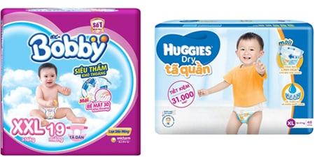 Bobby và Huggies sở hữu những ưu điểm khác nhau