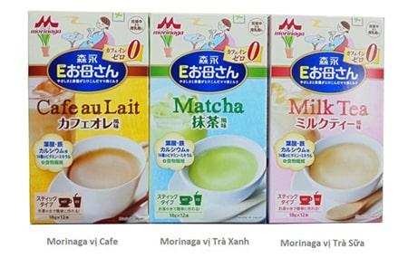 Morinaga có nhiều hương vị cho mẹ lựa chọn