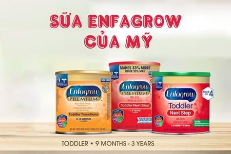 Sữa Enfagrow là một thương hiệu sữa nổi tiếng đến từ nước Mỹ