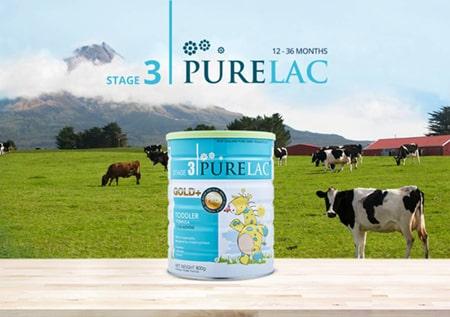 Sữa Purelac số 3 dành cho các bé từ 1 đến 3 tuổi