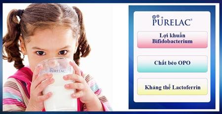 Sữa sở hữu bảng thành phần với dưỡng chất vàng