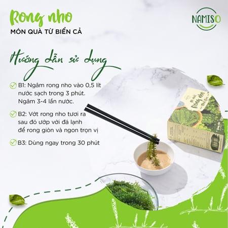 Rong Namiso là sản phẩm của công ty Việt Nhật Organic Food