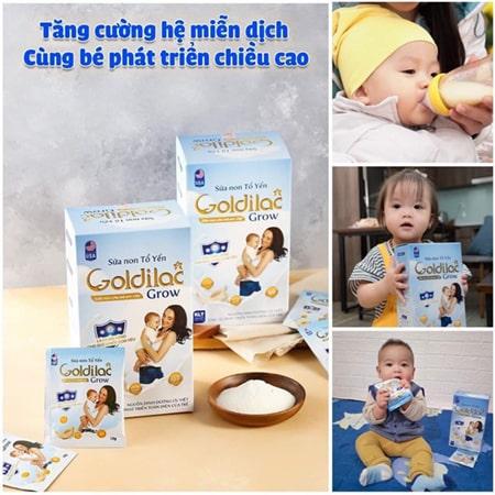 Sữa non tổ yến Goldilac Grow dành cho trẻ từ 0 - 10 tuổi